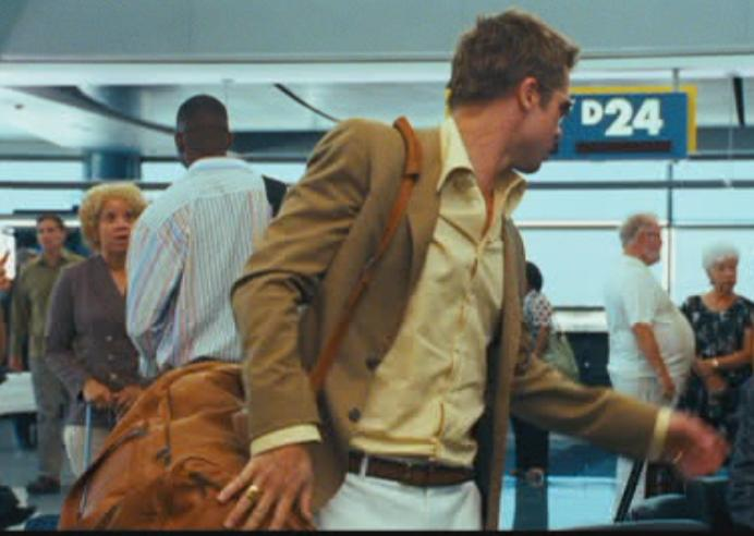 Brad Pitt Oceans. Brad Pitt#39;s bag in Ocean#39;s 13